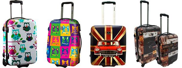 Maletas Saxoline - Búhos, Cats, Union Jack y Suitcase