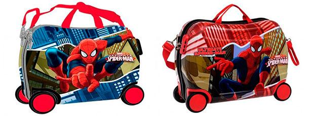 maletas infantiles chicos correpasillos spiderman