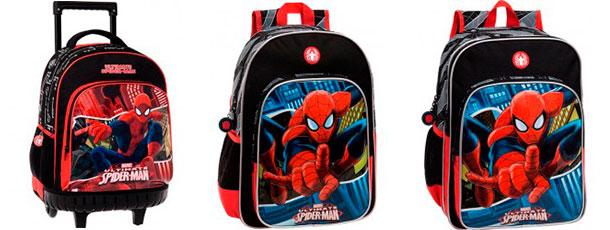 mochilas infantiles para niños spiderman